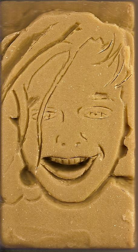 Mixed Media Sculpture - Gaetanos Portrait In Soap by Anthony G Scariolo