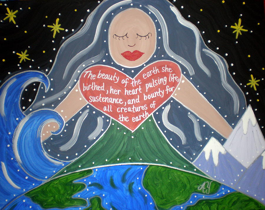 Holy Painting - Gaia by Angela Yarber