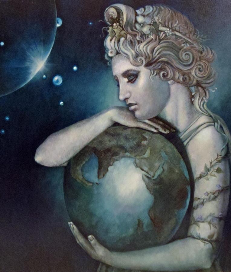 Ancient Painting - Gaia by Geraldine Arata