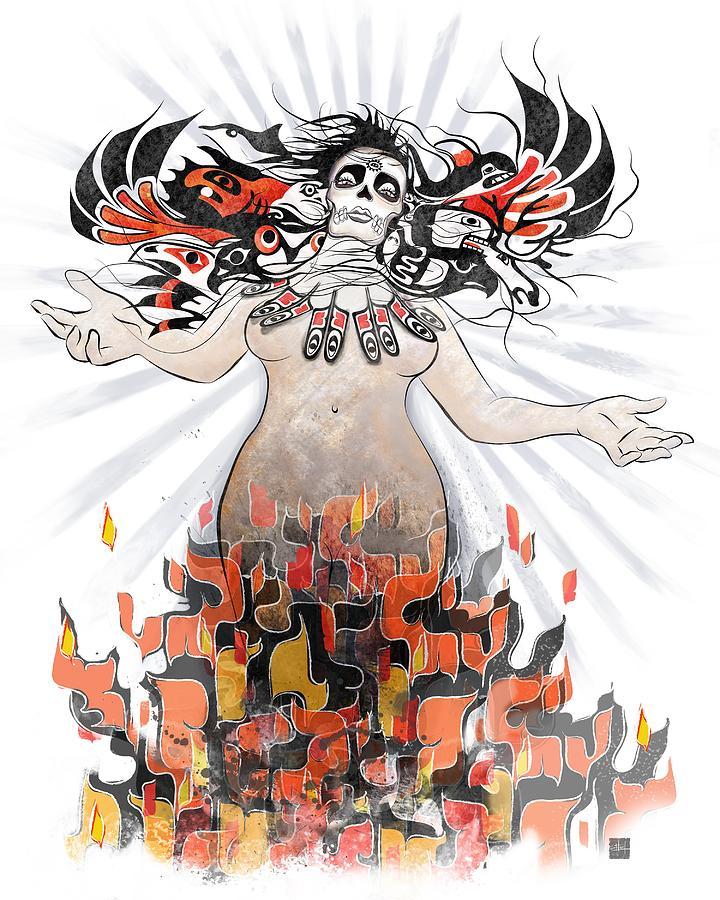 Gaia Painting - Gaia in Turmoil by Sassan Filsoof