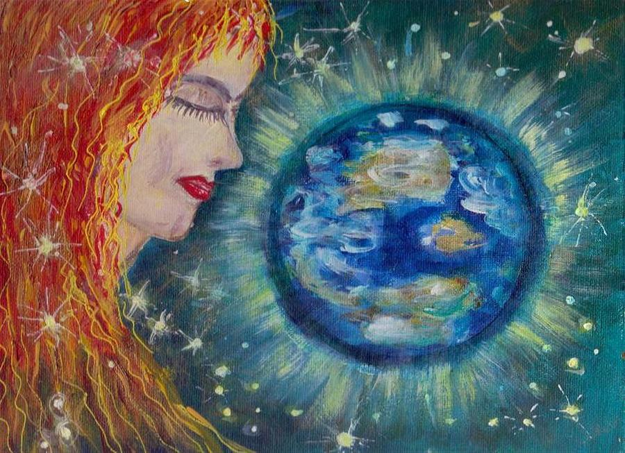 Painting Painting - Gaia  by Mary Sedici