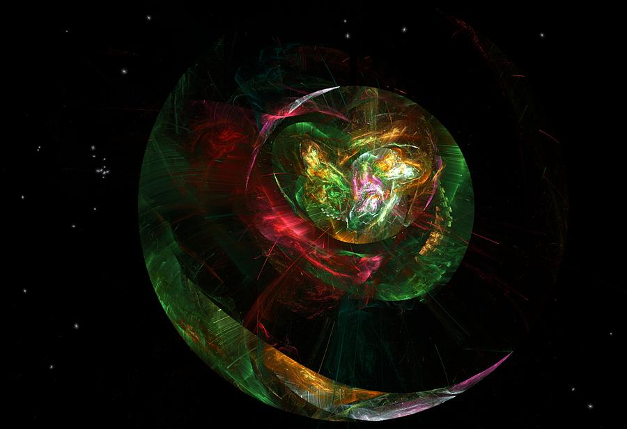 Fantasy Digital Art - Gaia Revealed by David Lane