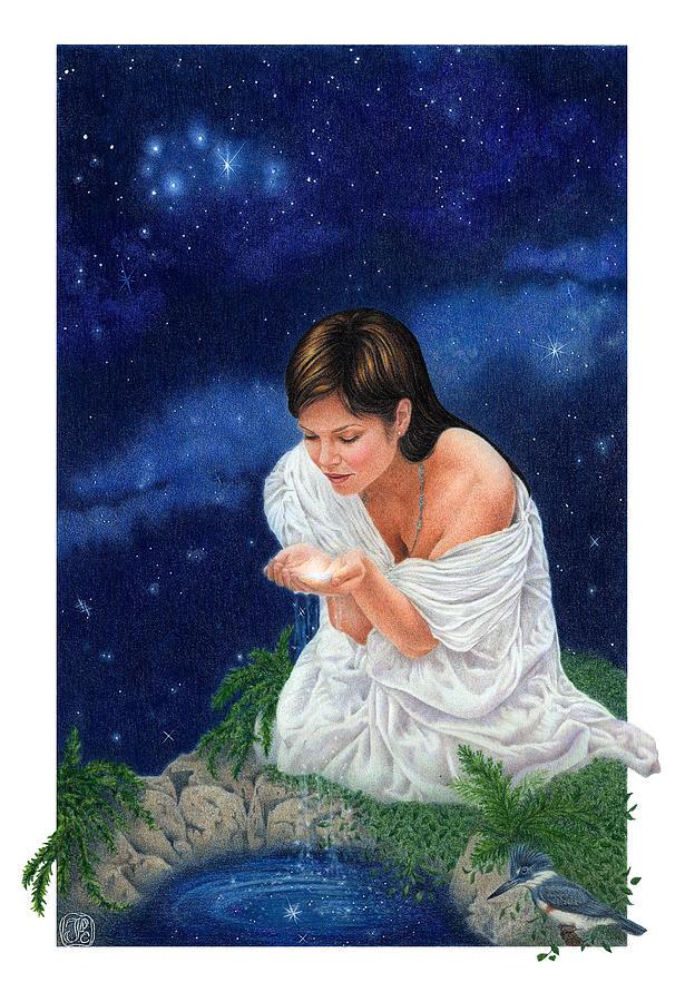 Tarot Painting - Gaian Tarot Star by Joanna Powell Colbert