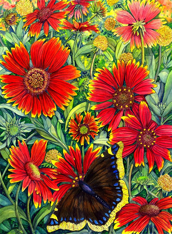 Butterfly Painting - Gaillardia by Catherine G McElroy