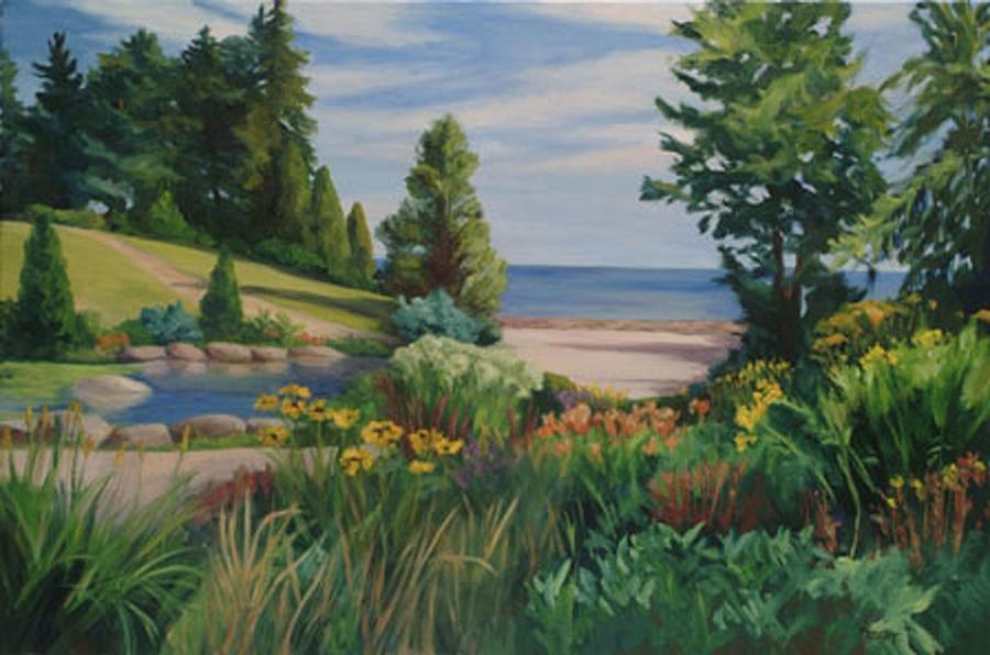 Landscape Painting - Gairloch Gardens by Rita-Anne Piquet