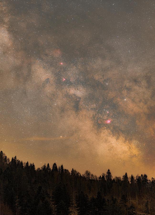 Stars Photograph - Galactic Center by Bartosz Wojczynski