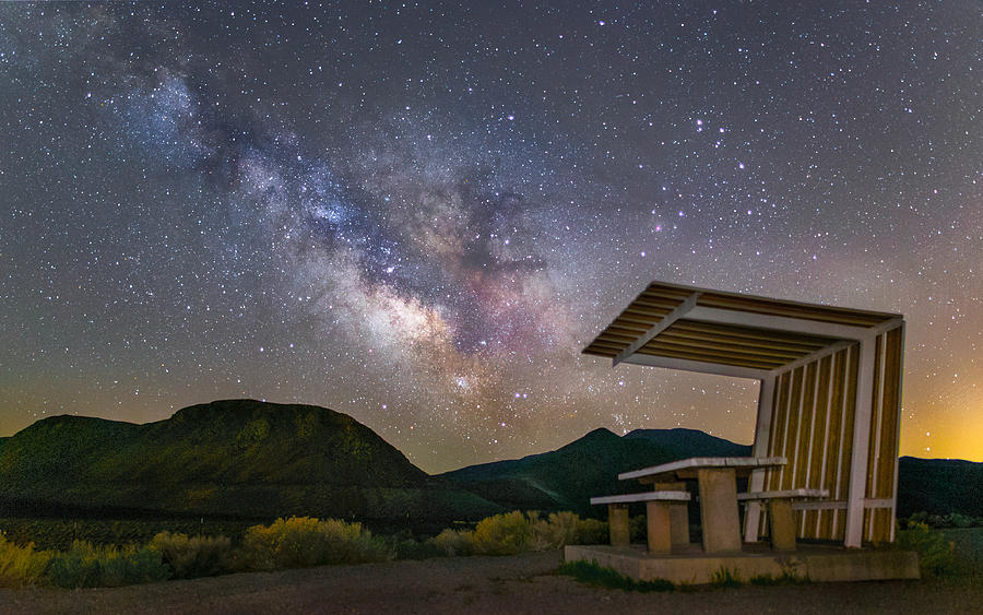 Astrophotography Photograph - Galactic Picnic - Milky Way At Pyramid Lake by Tony Fuentes