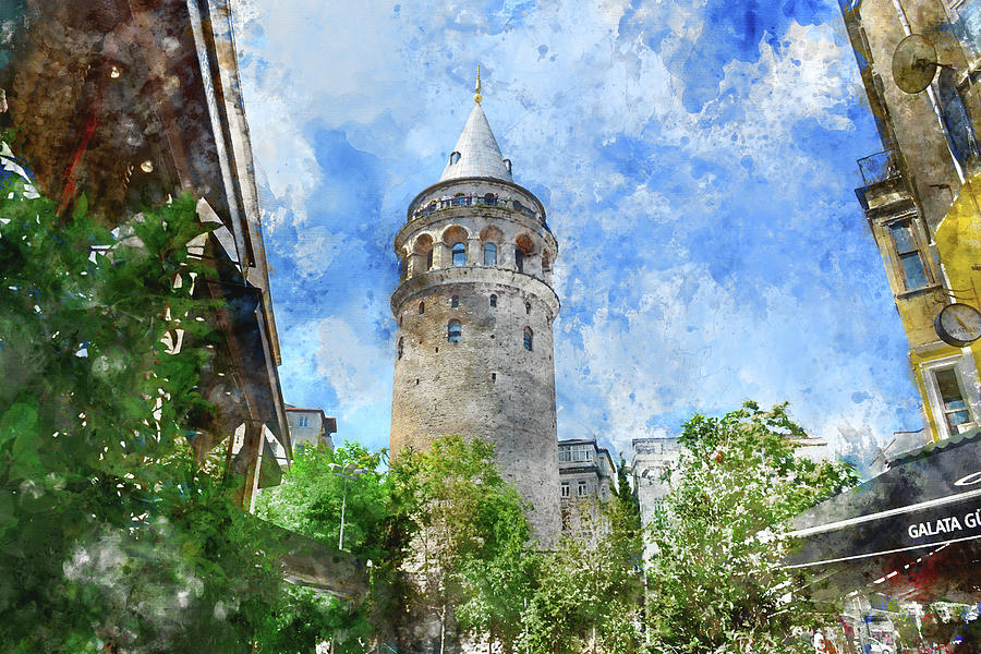 Galata Tower in Istanbul Tukey by Brandon Bourdages