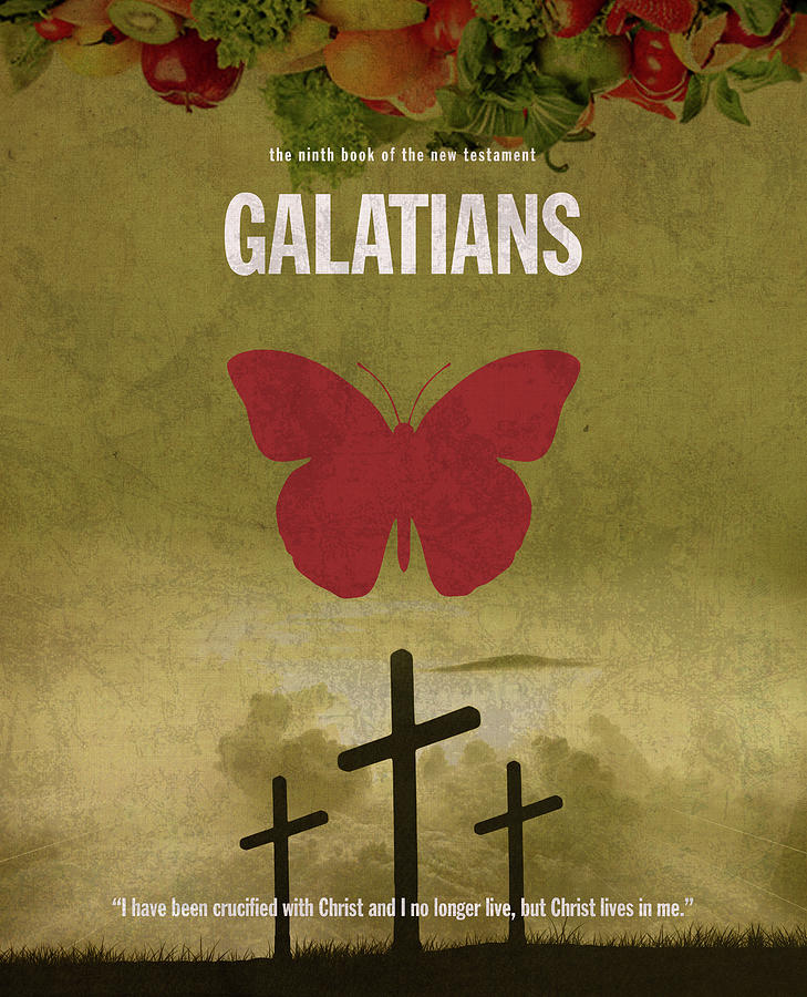 Galatian Mixed Media - Galatians Books Of The Bible Series New Testament Minimal Poster Art Number 09 by Design Turnpike