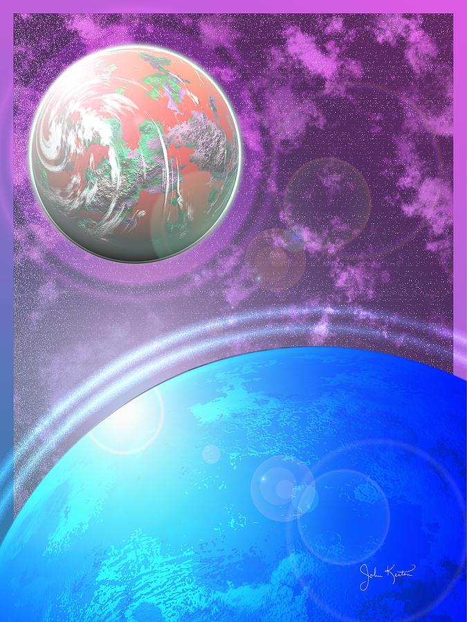 Galaxy Digital Art - Galaxy 4 by John Keaton