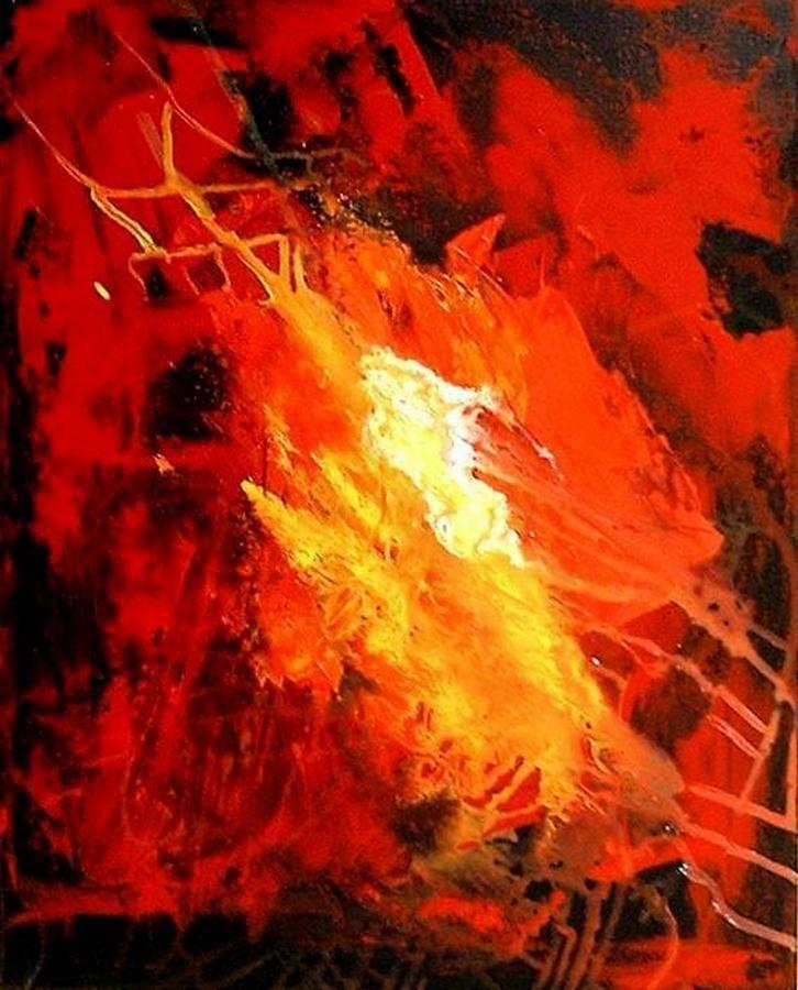 Red Painting - Galaxy Abstract1of4 by Teo Alfonso