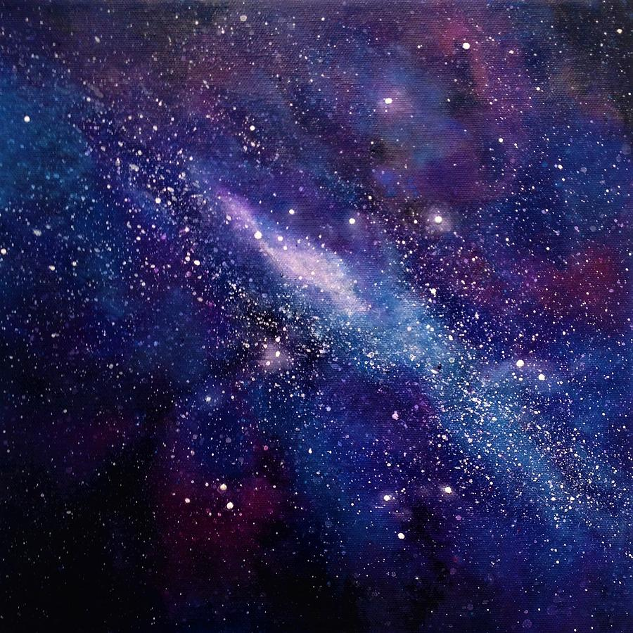 Galaxy Artwork Galaxy Painting by Ivy...