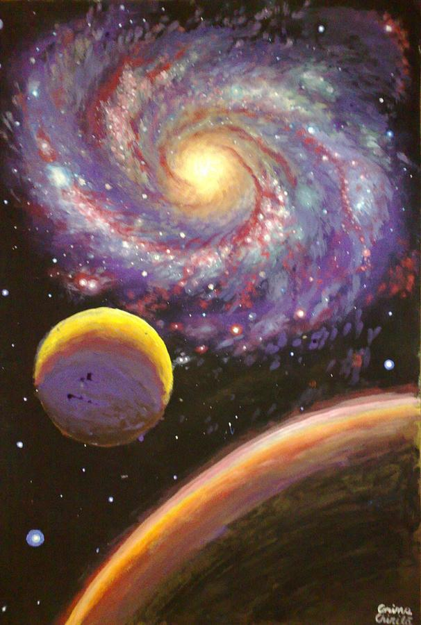 Galaxy painting galaxie si planete pictura tempera painting by galaxy painting galaxy painting galaxie si planete pictura tempera by chirila corina m4hsunfo