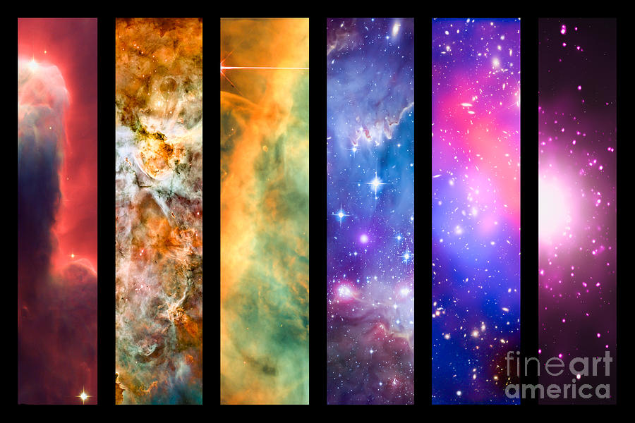 Space Photograph - Space Rainbow by Delphimages Photo Creations