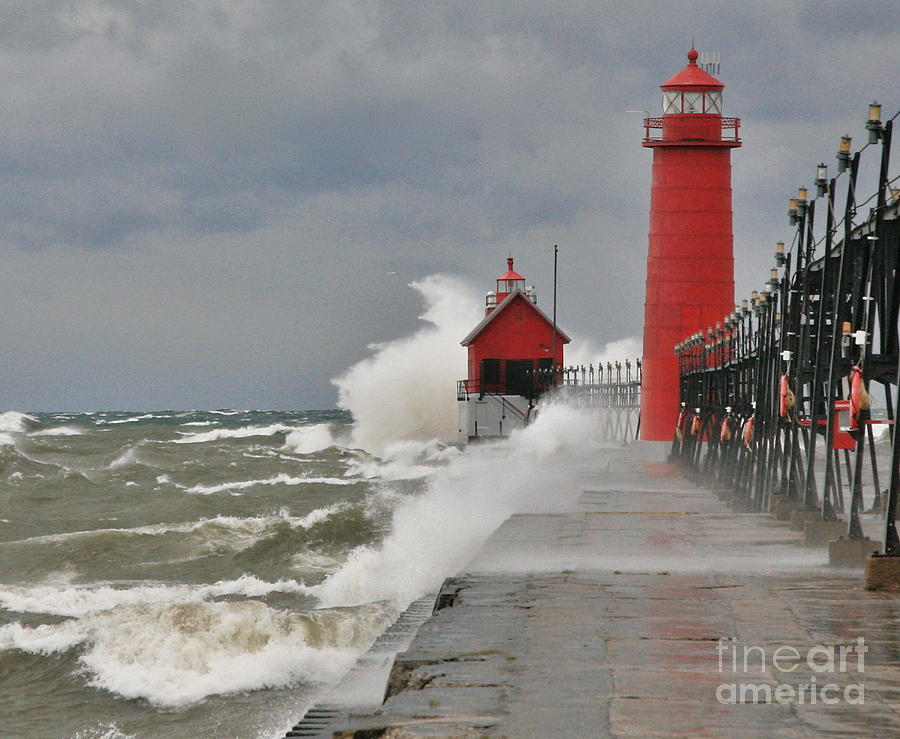 Light House Photograph - Gale Warnings by Robert Pearson