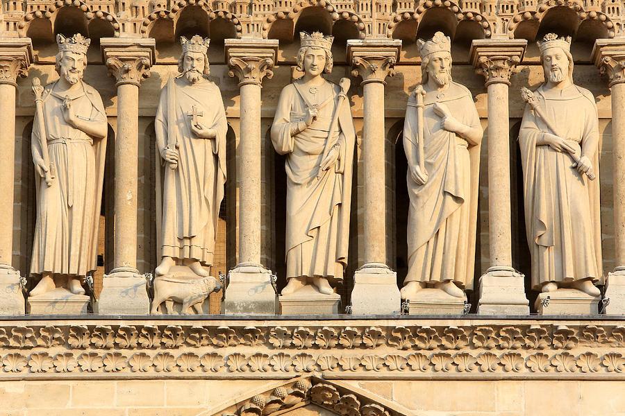 Europe Photograph - Galerie Des Rois Catherdrale Notre Dame De Paris France by Catherine Leblanc