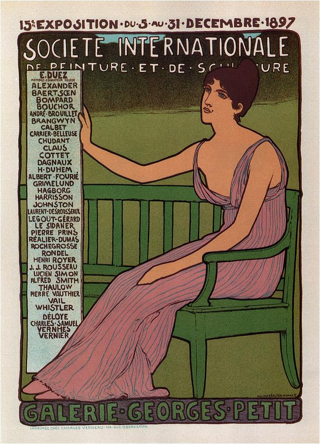 Galerie Georges Petit - Societe Internationale De Peinture Et Sculpture - Vintage Exposition Poster Mixed Media