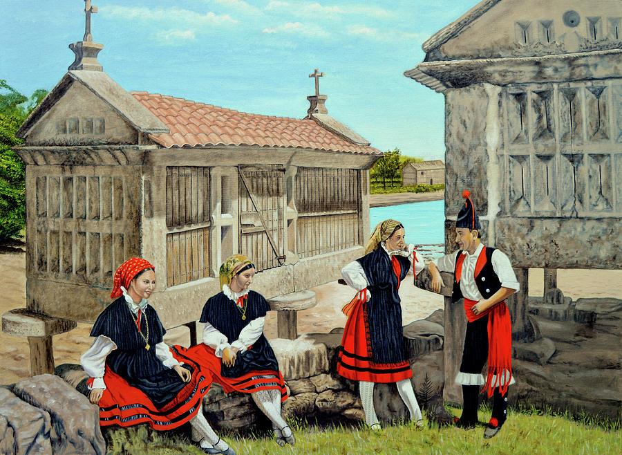 Galicia La Bella Painting by Tony Banos