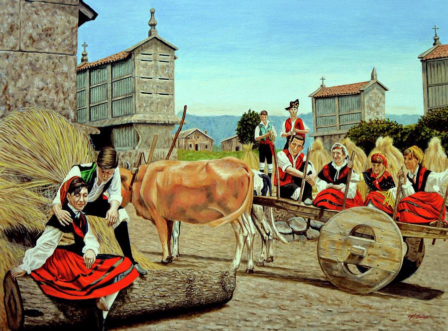 Spain Painting - Galicia Medieval by Tony Banos