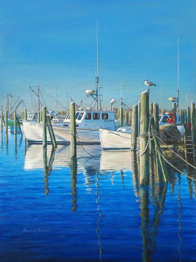 Boat Painting - Galilee by Bruce Dumas