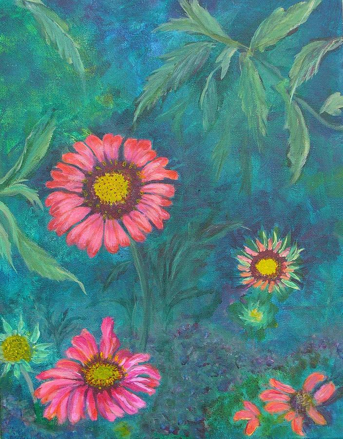 Garden Painting - Gallardia by Peggy King