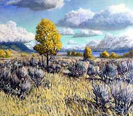Gallatin Valley Fall Colors Painting by Scott Robertson