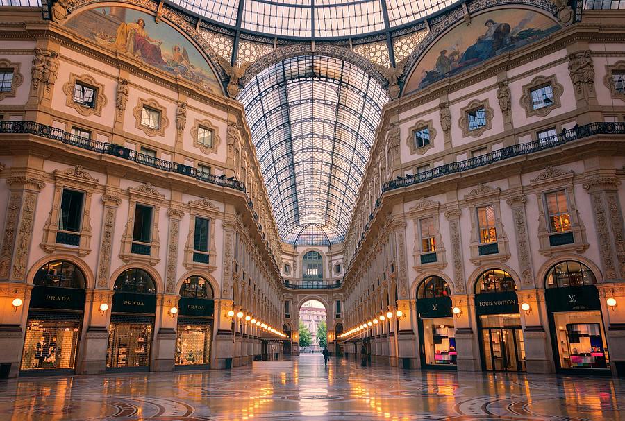 Joan Carroll Photograph - Galleria Milan Italy II by Joan Carroll