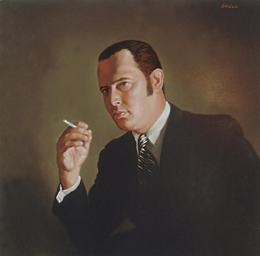 Portrait Painting - Gallery G Lawyer by Harold Shull