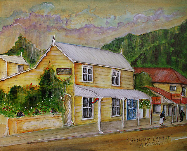 Gallery Lavaud-akaroa -new Zealand Painting by Katie Ross