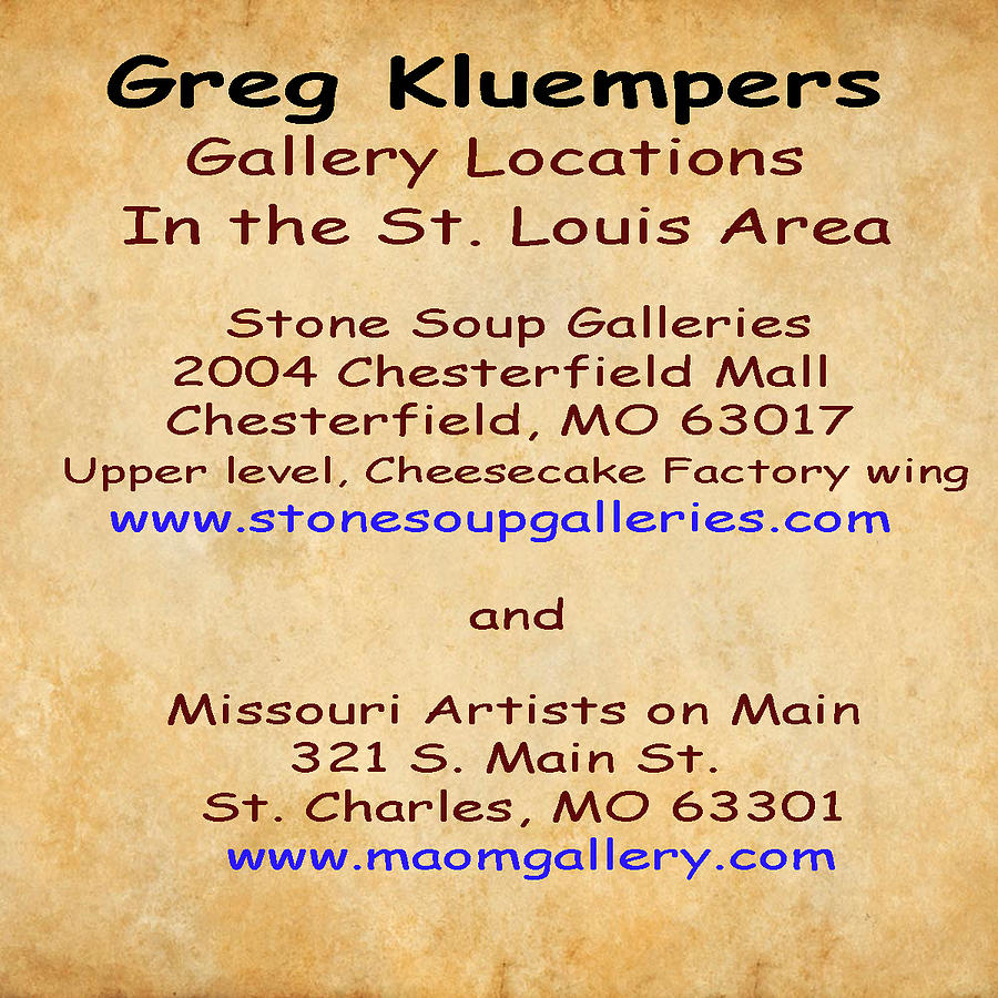 Gallery Locations in the St. Louis Area by Greg Kluempers