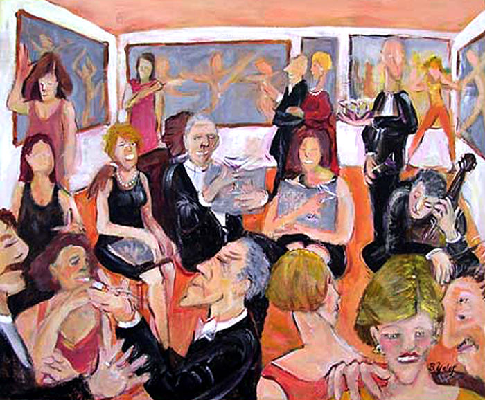 Party Painting - Gallery Opening by Barbara Yalof