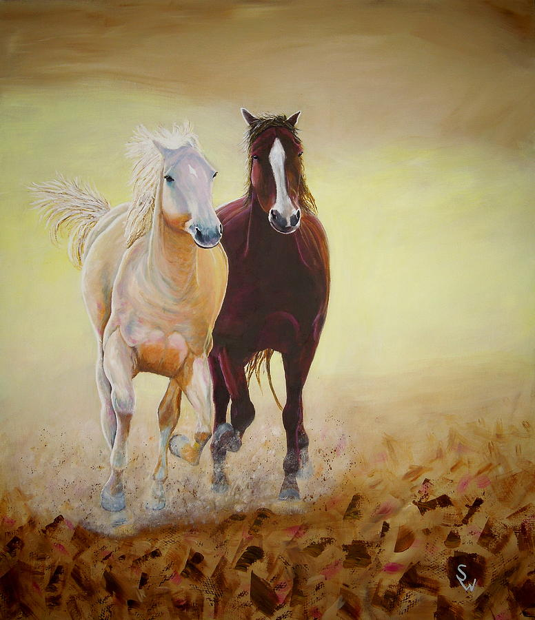Galloping Horses by Shirley Wellstead