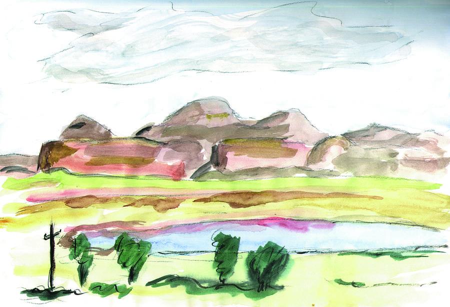 Kevin Callahan Painting - Gallup New Mexico by Kevin Callahan