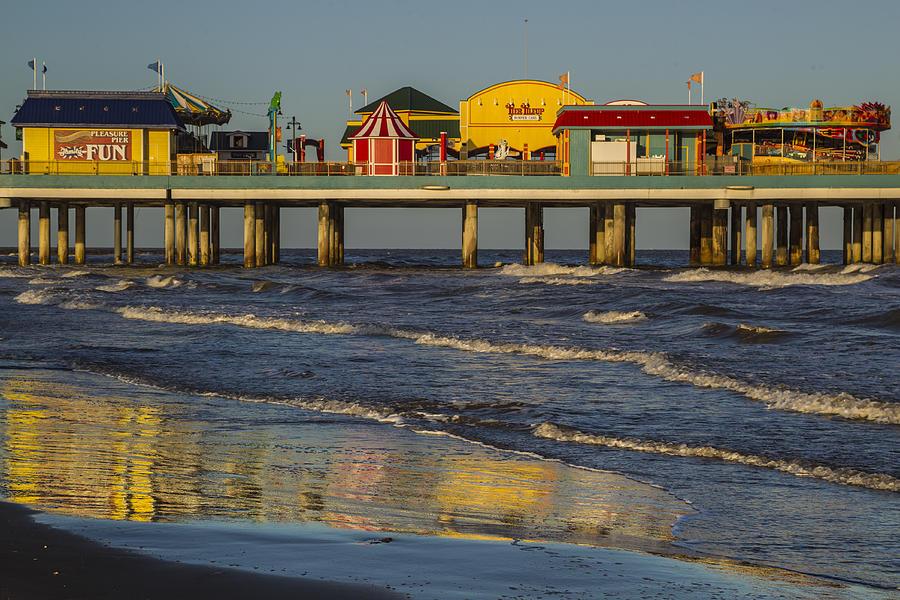 Galveston Pleasure Pier  by Kathy Adams Clark