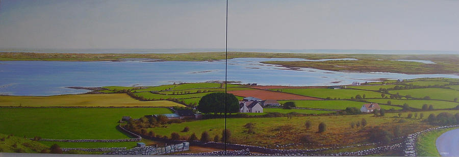 Galway Bay Painting - Galway Bay From Corker Hill by Eamon Doyle