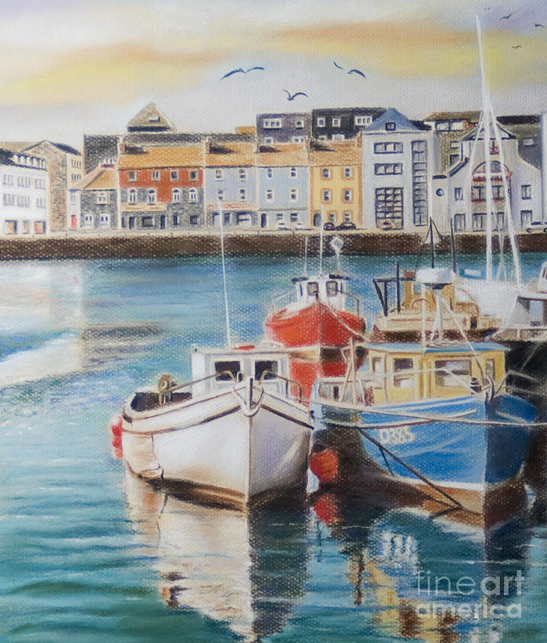 Galway Harbour Painting - Galway Harbour by Vanda Luddy