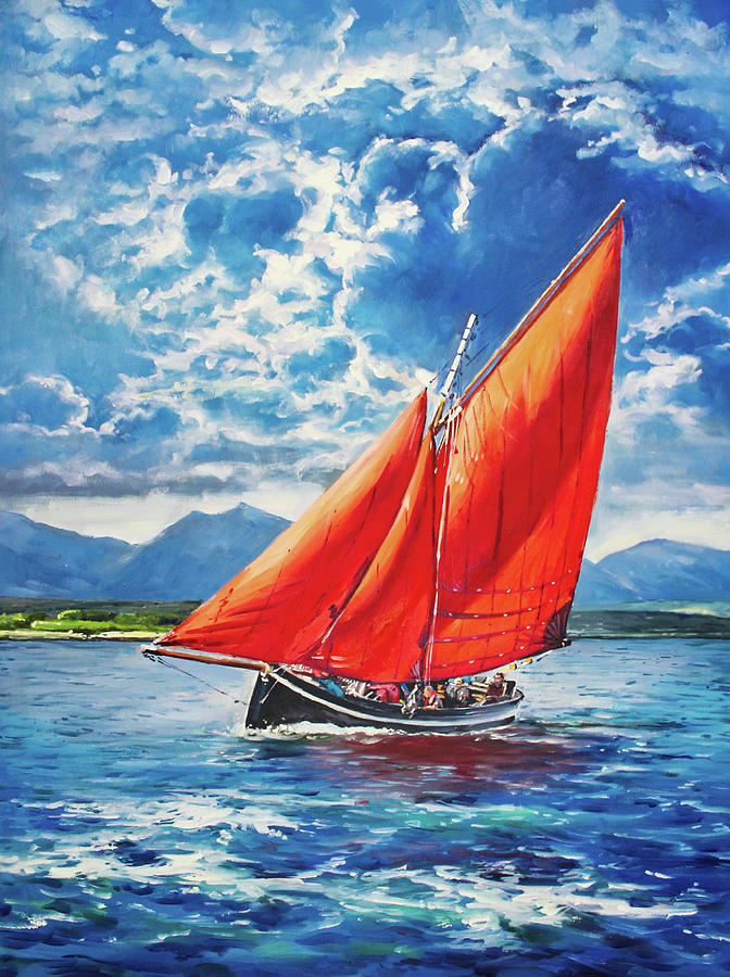 Galway hooker at Sea by Conor McGuire