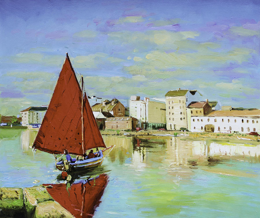 Galway Hooker Reflections Painting