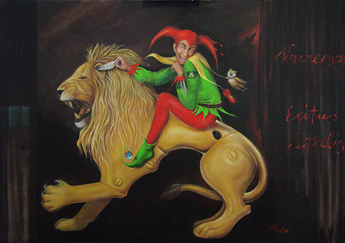 Fool Painting - Game Of Fool  Exitus Letalis by Silvia Pecha