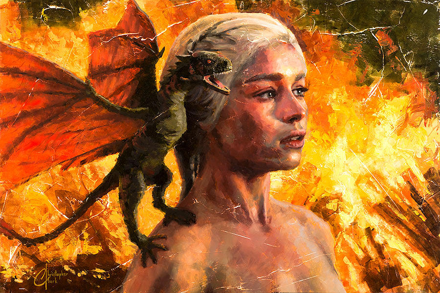 Game Of Thrones Khaleesi Mother Of Dragons Painting By