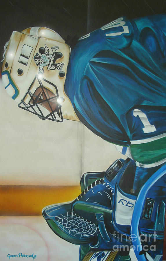 Roberto Luongo Painting - Game On by Gordon Paterson
