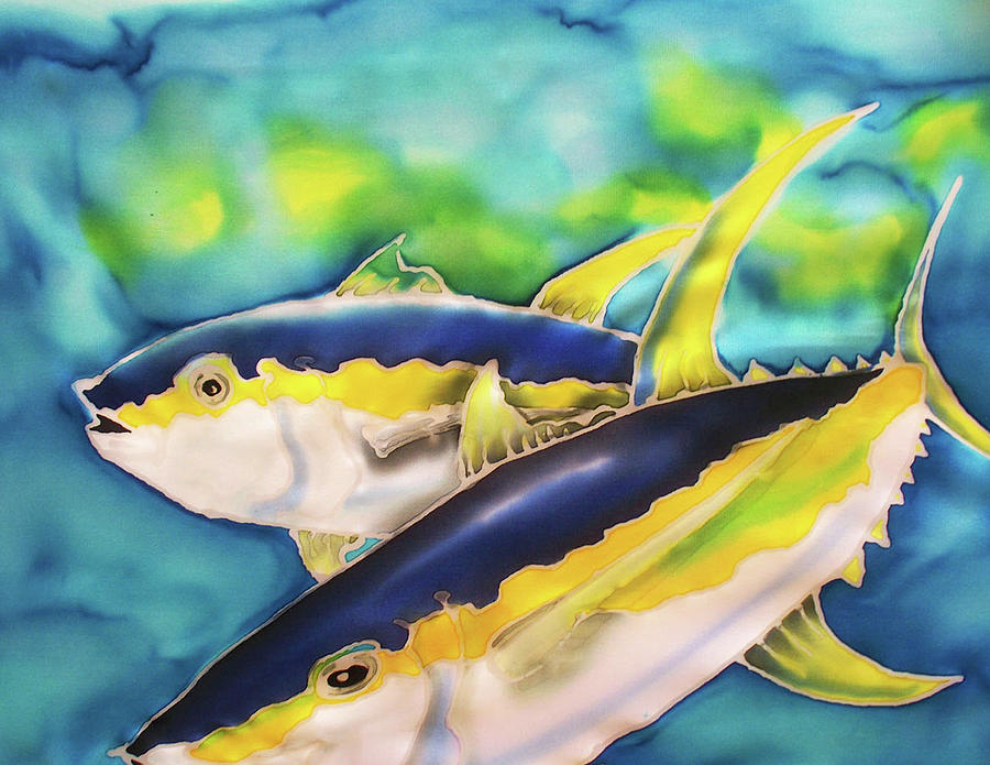Game Fishing Painting - Game On by Tiff