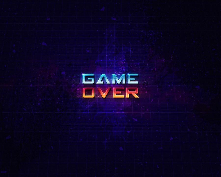 Game Over Digital Art - Game Over by Kishankumar Patel