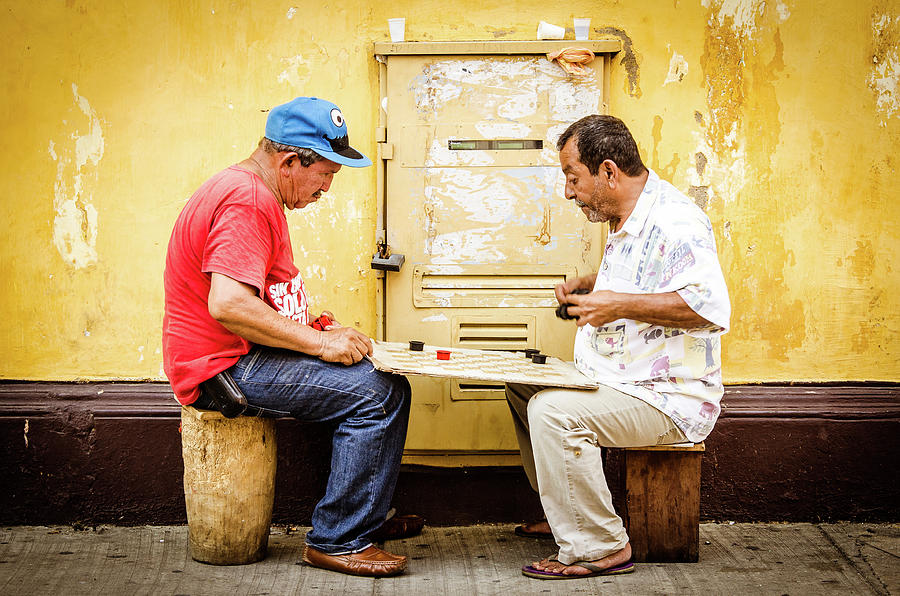 Colombia Photograph - Gamers by Michael Weber