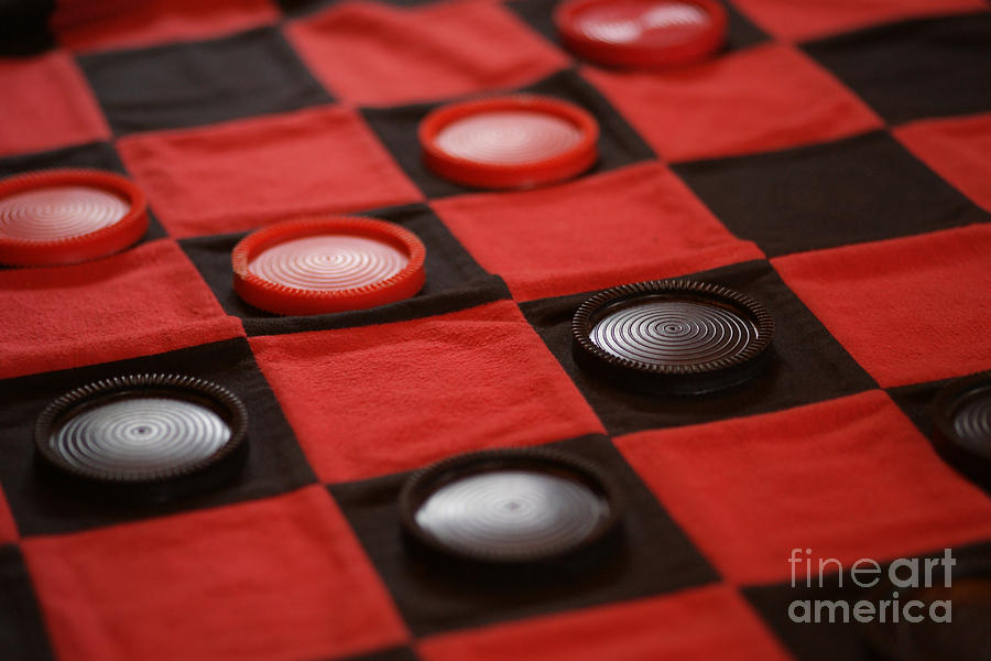 Checkers Photograph - Games by Linda Shafer