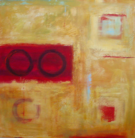 Abstract Painting - Games Of Chance by Penny Benjamin Peterson