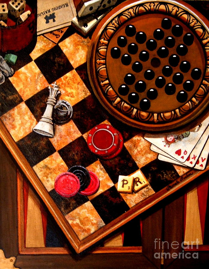 Games Painting - Games People Play by Pamela Roehm