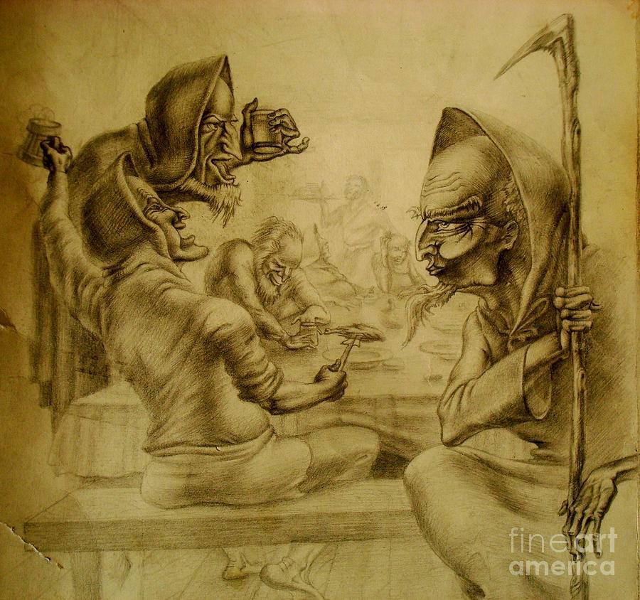 Tolkien Painting - Gandalf by Denis Hmylnin