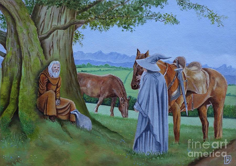 Gandalf meets Radagast by GORDON PALMER