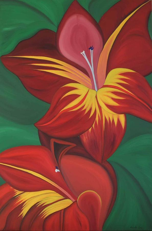 Flower Painting - Gandavenis Hybrid No.2  by Marinella Owens